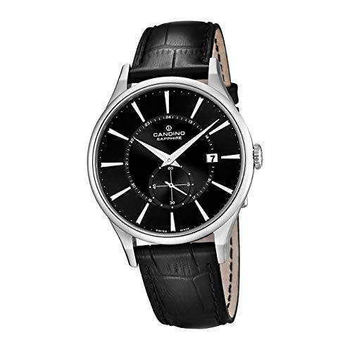 Candino Reloj de pulsera para mujer C4558/4, elegante, analógico, de cuarzo, de piel, negro, D2UC4558/4, un regalo para Navidad, cumpleaños, día de San Valentín para la mujer