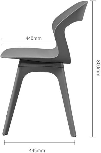 HSF Dossier en Plastique de Couleur Chaise à Manger Chaise de Bureau Chaise de réception Loisirs Chaise Parent-Enfant Chaise Macaron Enfant Chaises (Color : Green) Green