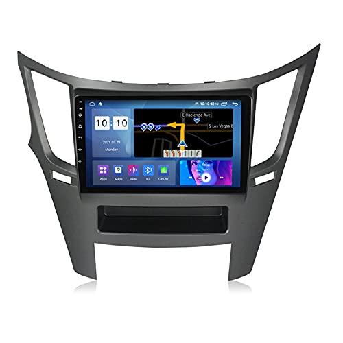 Amimilili Android 10 GPS Navigatore Auto Radio Stereo Media Player per Subaru Legacy 2009-2014 Support USB WiFi Controllo del Volante Bluetooth FM Telecamera Posteriore,M100s