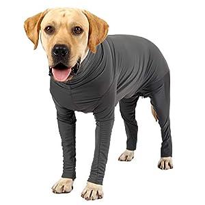 body chien vetement chien opere body protection chien, combinaison chien, contient des poils de chien, évite les léches, chien anxiété gilet de recuperation (M, gris1)