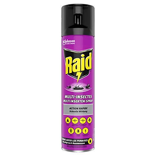 Raid Paral Multi Insekten-Spray, Mückenspray, zur Bekämpfung von fliegenden & kriechenden Insekten, 1er Pack (1 x 400ml)