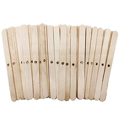 MILIVIXAY Wooden Candle Wick Holders,Candle Wicks Centering Device,Candle Wick Bars,Wick Holders for Candle Making,Wick Clips for Candles,Candle Centering Tool,120 Pack