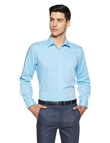 Van Heusen Men's Solid Slim Fit Formal Shirt (VHSFBSLPX90467_Light Blue_40)