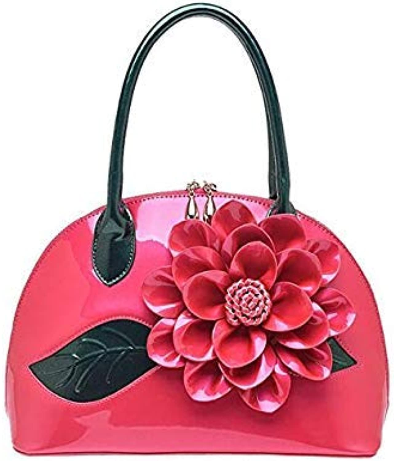 Bloomerang Big Flower Women Leather Handbags Luxury Women Handbag Famous Brands Female Tote Women Shoulder Bag Vintage Women Bag ZCP187 l color pink Women Bags 30x12x21CM