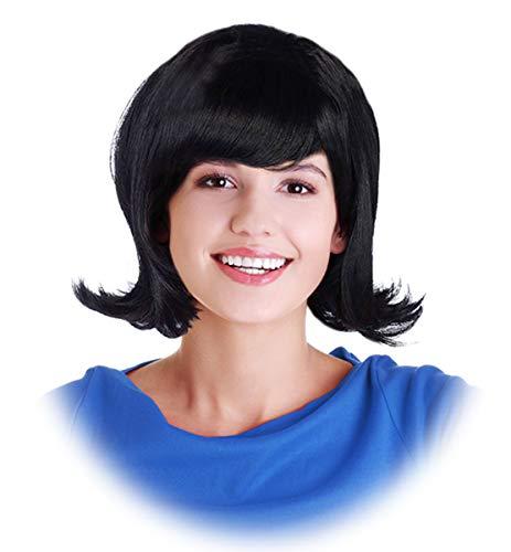 Black Flip Wig Jackie Kennedy Costume Wig Jackie Wig Betty Wig Costume Linda Wig