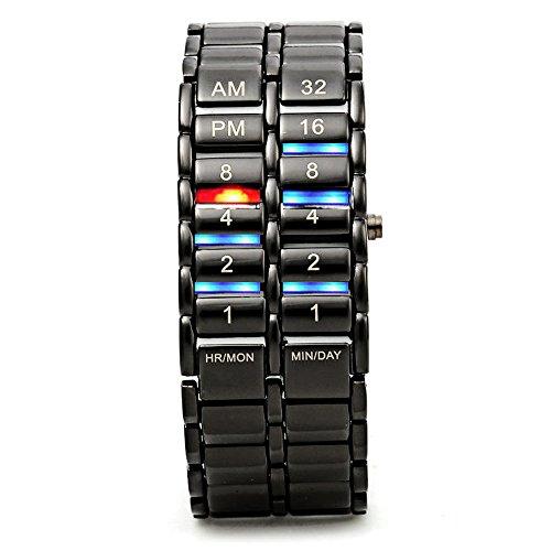 HWCOO LED-Uhren, Lava-Tisch der zweiten Generation binäre Lavatabelle binäre Lava LED-Uhr (Color : 1)
