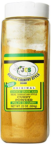 JCS Reggae Country Style Brand Real Jamaican Style Curry Powder 22 Oz (2 pack)