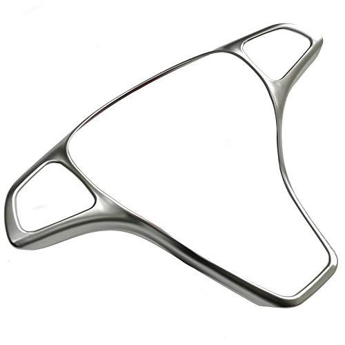HDCF Lenkrad ABS Chrom Abdeckung Knopf Zierrahmen Aufkleber Zubehör für W205 W213 GLA GLC E C Klasse
