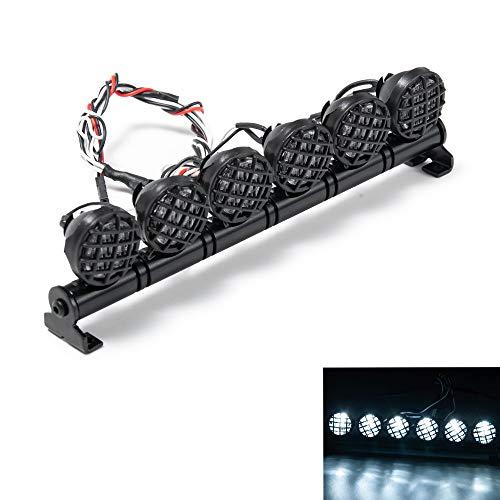 XUNJIAJIE 6 lichte 1/10 RC auto daklamp rack light zoeklicht voor 1:10th RC Crawler Truck SCX10 D90