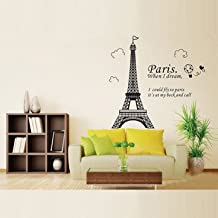 Generic Home Decoration Romatic Paris Eiffel Tower Wall Decals Stickers