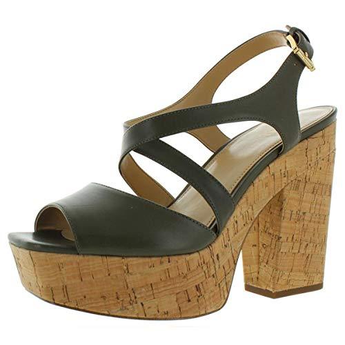 Michael Michael Kors | Abbott Platform Sandals | Olive | 10