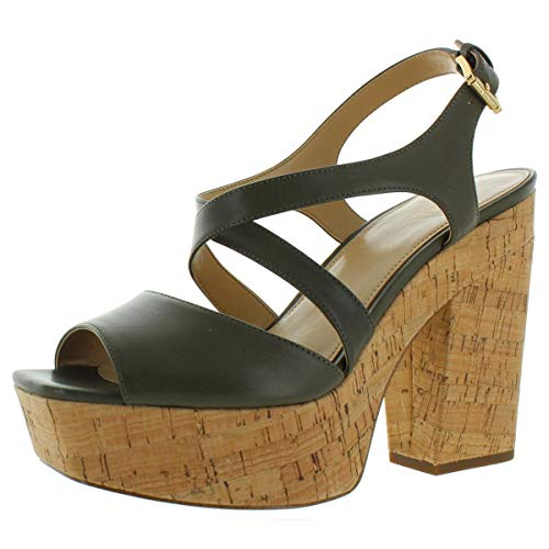 Michael Michael Kors Womens Abbott Platform Sandals Green US 10 Medium...