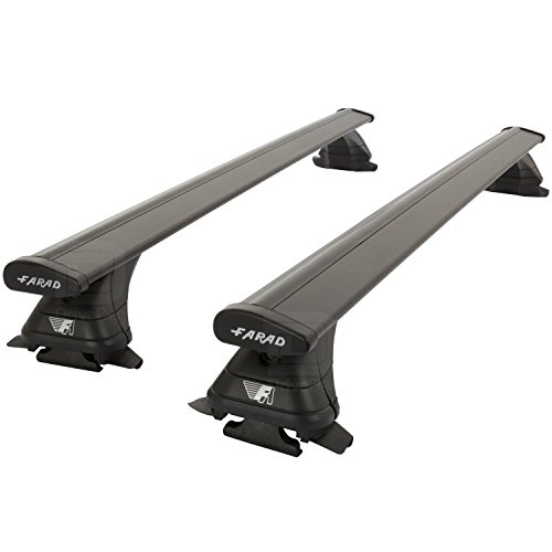 Farad Pro FA-ALU2BLK-329b Aluminium Zwart Wing Roof Bar Set (Closed Roof Rails)
