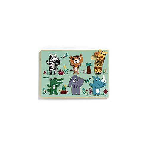 RompecabezasPuzzles encajables y rompecabezasEncajable Coucou Jungla, Multicolor (1258)