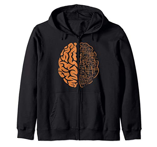 Cool Brain Nerd Geek Computer Science IT Hacking Programming Zip Hoodie
