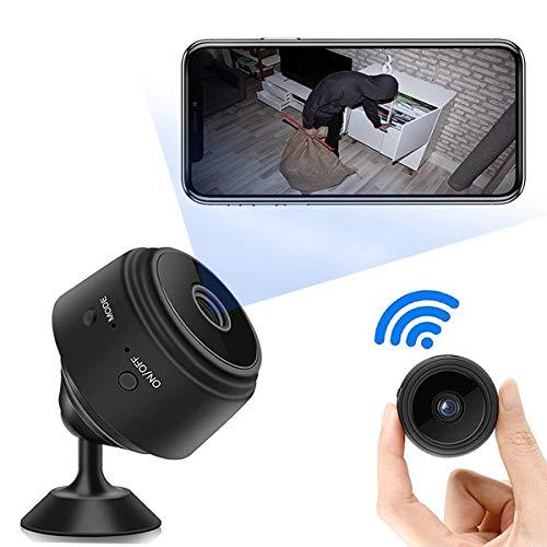 1080P HD Mini Camara de Vigilancia,Portátil WiFi Cámara con IR Visión Nocturna Detector de Movimiento,Grabadora de Video,Camaras de Seguridad Pequeña con Visualización Remota para Interior/Exterior