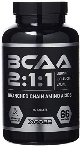 Xcore Nutrition BCAA Complex 3100 400 Tabs - Excelente Fórmula de Aminoácidos - Favorece el Crecimiento Muscular, el Rendimiento y la Recuperación - 66 Dosis - 2 Meses de Suplementación