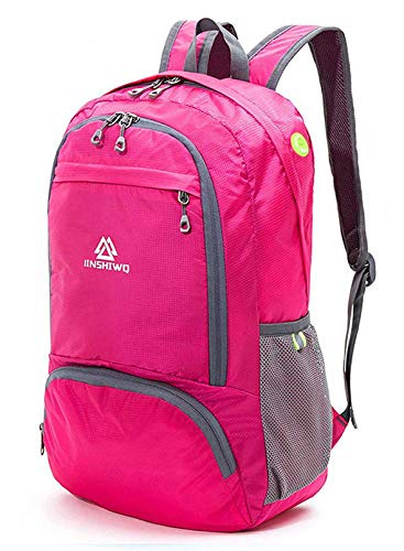 Loocower Lightweight Hiking Travel Backpack, 35L Packable Ultralight Backpack Daypack, Water-Resistant Foldable Camping Outdoor Backpack for Travelling -Red
