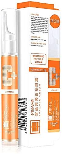Gel de eliminación de manchas instantáneo de 15 ml, suero facial de vitamina C, suero de pecas blanqueador VC, crema removedora de pecas, pigmentación de la piel(1 piezas)