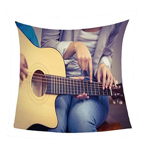 WSSHUIYI Mantas de Franela Bedclothes Prueba la Guitarra Manta de Bebé Unisex Suave y Cómoda Siesta 3D Microfibra Todas Temporada Cálido Sofás Mantas para Cama Edredón de Retazos-M(150X180CM)