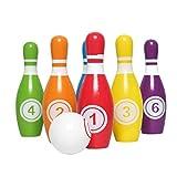 BESPORTBLE Set da Bowling in Legno Giochi da Bowling sul Prato con 5. 5 Pollici 6 Pin E 1....