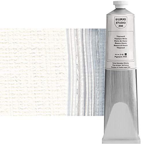 LUKAS Artist Oil Paints, Titanium White, 200 ml