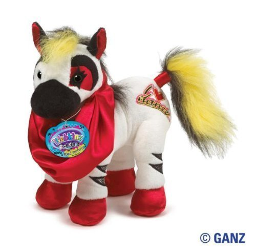 Webkinz Rockerz Zebra January 2013 Release + BONUS Pack Of Licensed Tye Dyed 'AFRIKA' Bracelets By Pii & Free Carabina To Carry Your Bandz!!!