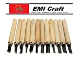 Conjunto de cinceles para tallar madera K9Q, 12 unidades de alta calidad y durabilidad
