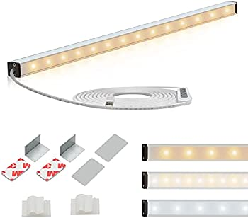 LNJAMI 14.5 Inch Dimmable Led Under Cabinet Lighting with USB Plug