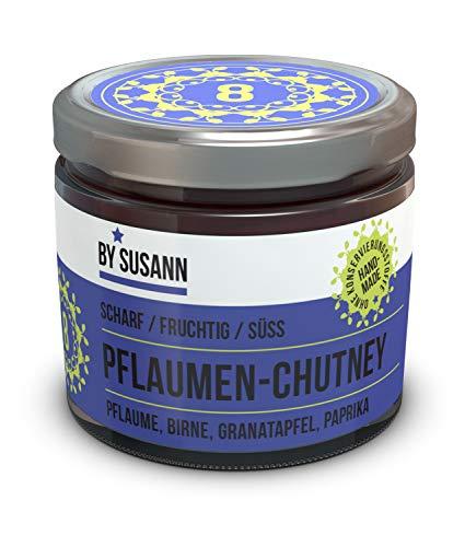BY SUSANN - 08 PFLAUMEN-CHUTNEY im Glas (1 x 150 g), Geschmackserlebnisse mit intensiven und natürlichen Aromen, scharf, fruchtig, süß