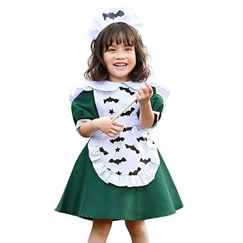 IMEKIS - Disfraz de princesa para nia, disfraz de bruja, gato, bruja, gato, alice, para Halloween, carnaval, cosplay, disfraz de lujo para fiesta de cumpleaos