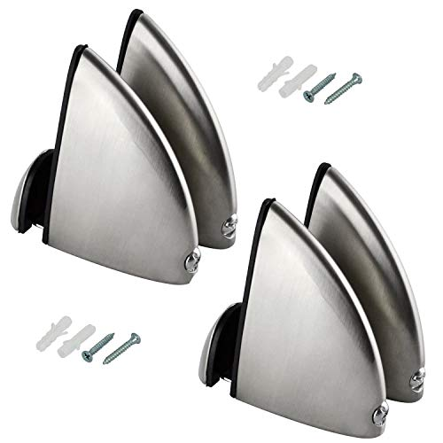 Rannb Glass Clamp Adjustable Glass Shelf Bracket Large - Pack of 4
