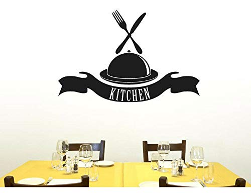 Personalidad pegatinas de pared arte vajilla pegatinas de comida cocina restaurante decoración del hogar DIY pegatinas de pared extraíbles A2 57x37cm