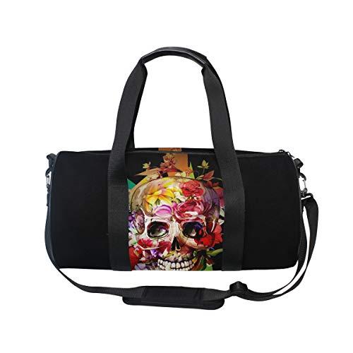 MNSRUU Reisetasche mit Totenkopf-Motiv, groß, Unisex, hohe Kapazität, großes Gepäck, Sporttasche
