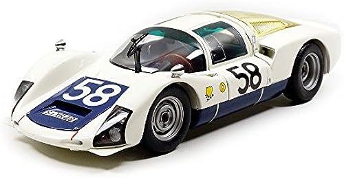 Minichamps 100666158 rsche 906 –  Mans 1966 Echelle 1 18, WeißSchwarz