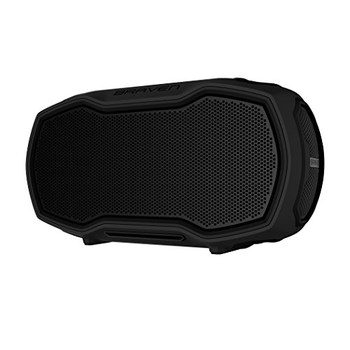Braven Ready Elite Active Outdoor Portable Speaker [Bluetooth][Wireless][12-Hour Playtime][Voice Control] - Black/Black/Titanium