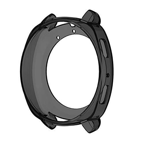 Coque de protection en silicone TPU souple pour montre Samsung Gear S3 Sport Classic Gear Sport Coque antichoc anti-rayures Bracelet de montre (couleur : noir pour Gear Sport)