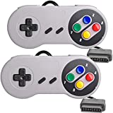 2 Packs Replacement Controller Gamepad for SNES, Game Controller Compatible with Original Super Nintendo Game Entertainment System