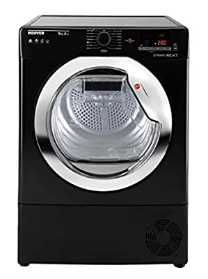 Hoover DX H9A2TCEB Freestanding Heat Pump Tumble dryer, NFC Connected, 9Kg Load, Black
