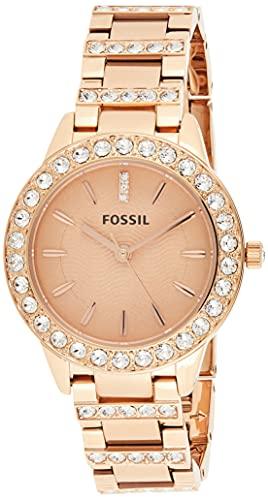 Fossil ES3020 - Reloj (Reloj de Pulsera, Femenino, Acero Inoxidable, Bronce, Acero Inoxidable, Bronce)