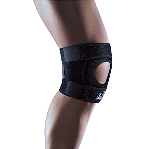 LP SUPPORT Extreme Knee Support Functional Brace with Open Patella Design and Adjustable Hook and Loop Closure - One Size Fits All