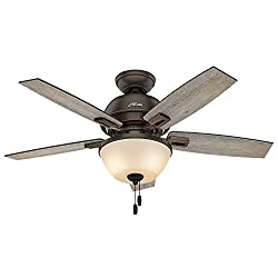 Hunter best rustic ceiling fan with lights