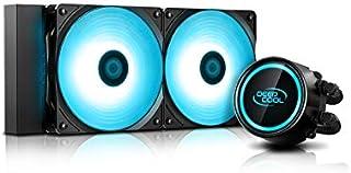 DEEP COOL GAMMAXX L240 V2 Refrigeración Líquida de CPU, con Sistema de Anti-Fugas Tech, RGB Bomba y RGB Ventilidores Sync, Controlado por la Placa Base, AM4 Compatible, Garantía de 3 Años