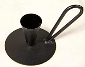 Wrought Iron Candle Taper Holder With Handle - Hand Made By Amish