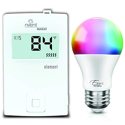 nVent NUHEAT Element Thermostat bundled with Euri Smart WiFi Lightbulb