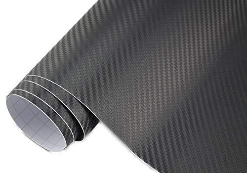 3,22€/m² 3D Carbon Folie schwarz meterware 200 x 152 cm Klebefolie Car Wrapping