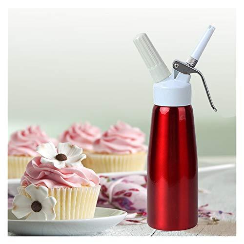 SCAYK 500 ml de Aluminio Rojo látigo Crema Espuma de Espuma de Espuma de café Postre Fresco Crema Whipper Manteca dispensador Whipper Pastel Fabricante de Espuma Crema fría Crema Galleta látigo Crema