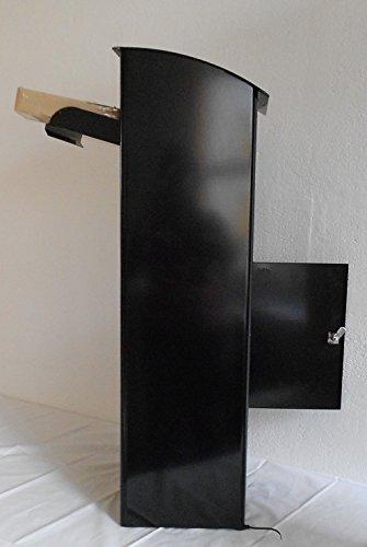 Paketbriefkasten Beech 458 Schwarz mit Montageset