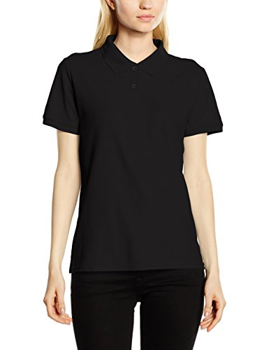 Fruit of the Loom SS092M, Polo para Mujer, Negro, 2XL