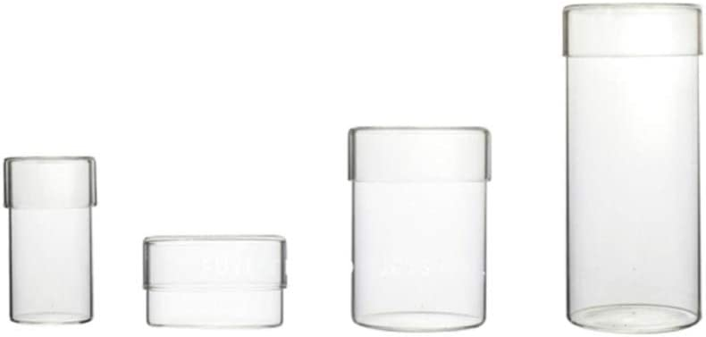 Latest item UPKOCH Glass Over item handling ☆ Storage Jar Set Con Bottle Food Clear